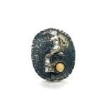 Anillo UNO oval plata y ópalo1