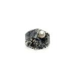 Anillo UNO plata y perla