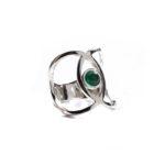Anillo sideral-2 ónix plata y verde 1