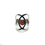 Anillo SIDERAL-2 plata y ónix rojo1