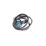 Anillo SIDERAL-1 plata oxidada y turquesa