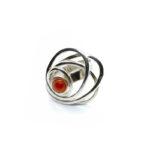Anillo Sideral-1 plata y ónix rojo 2
