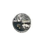 Anillo UNO redondo en plata oxidada-1
