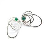 Pendientes SIDERAL-1 plata y ónix verde1