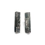 Pendientes UNO rectángulo plata oxidada1