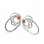 Pendientes SIDERAL-1 plata y ónix rojo1