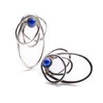Pendientes SIDERAL-1 plata y lapislázuli1
