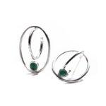 Pendientes SIDERAL-2 plata y ónix verde1